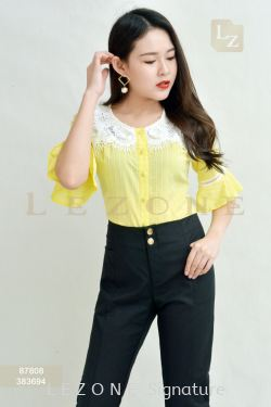 87808 LACE BELL SLEEVE BLOUSE【BUY 2 FREE 3】