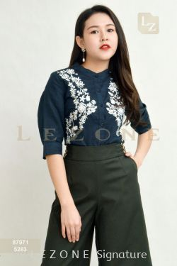 87971 EMBROIDERED SLEEVE BLOUSE