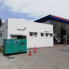 Genset rental unit supply prime running at Petron Simpang Pulai