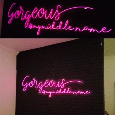 NEON LED ON FEATURE WALL