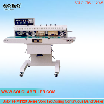 Solo® FRM1120W Solid Ink Coding Continuous Band Sealer SOLO-CBS-1120W