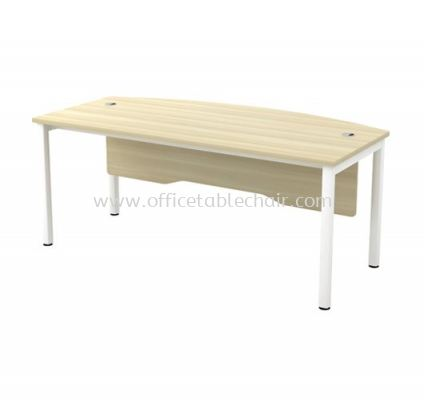 EXECUTIVE TABLE METAL OCTAGON LEG C/W WOODEN MODESTY PANEL SWB 180A