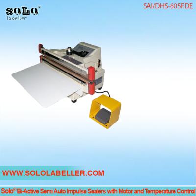 Solo® Bi-Active Semi Auto Impulse Sealers With Temperature Control SAI/DHS-605FDE