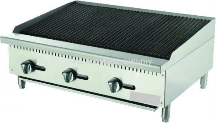 CHAR ROCK BOILER 3 BURNER TABLE TOP 3ft
