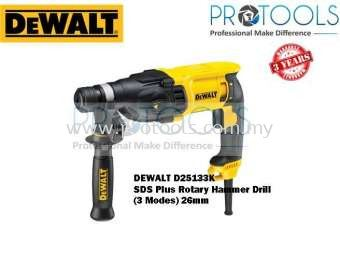 DEWALT D25133K SDS PLUS ROTARY HAMMER DRILL (3 MODES) 26mm - 3 YEARS WARRANTY