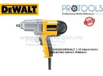 DW293 DEWALT 1/2' HEAVY DUTY ELECTRIC IMPACT WRENCH