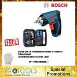 BOSCH GSR3.6 V-LI PRODRIVE CORDLESS SCREWDRIVER FOC COTTON GLOVE