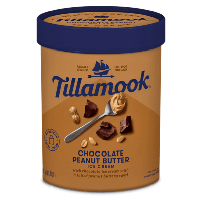 Tillamook Chocolate Peanut Butter 1.66L