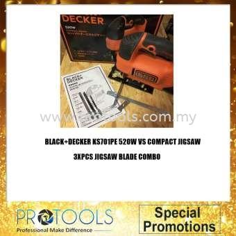 BLACK & DECKER KS701PE 520W JIGSAW / KS701PE + KC3610 3.6 NICD SCREWDRIVER BLISTER PACK / KS701PE STARTER KIT