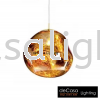 GOLD GLASS PENDANT LIGHT  Designer Pendant Light PENDANT LIGHT