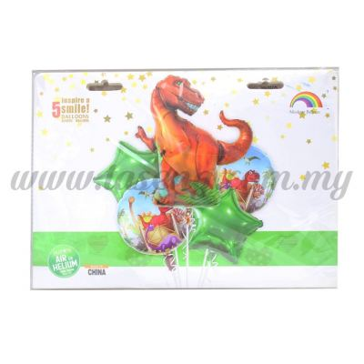 Foil Balloon Set (Dinosaur) - 5in1 (FBT119-5IN1)