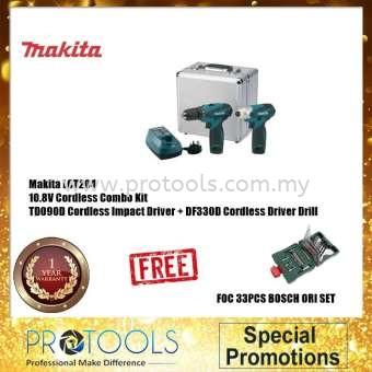 MAKITA LCT204 DF330D -10.8V DRIVER DRILL + TD090D 10.8V IMPACT DRIVER COMBO KIT FOC XLINE SET