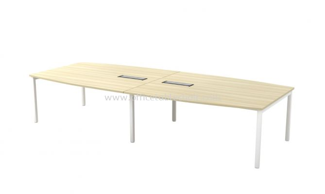 MUPHI BOAT SHAPE CONFERENCE MEETING OFFICE TABLE  ASBB30 (C/W FLIPPER COVER)