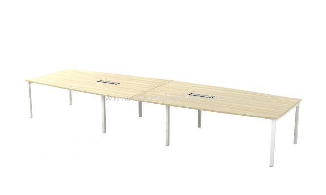 MUPHI BOAT SHAPE CONFERENCE MEETING OFFICE TABLE  ASBB48 (C/W FLIPPER COVER)
