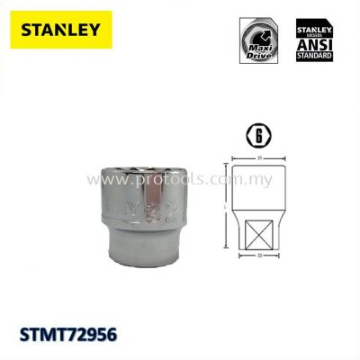 STANLEY SOCKET STD 1/2IN DR 6PT (SILVER) FROM 8~32