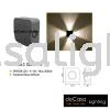 OUTDOOR WALL LIGHT W 3033 SG 4W Led Effect Wall Light OUTDOOR LIGHT