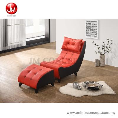 JM Concept HM Malolo Chair Sofa / Resting Sofa (Black + Red))