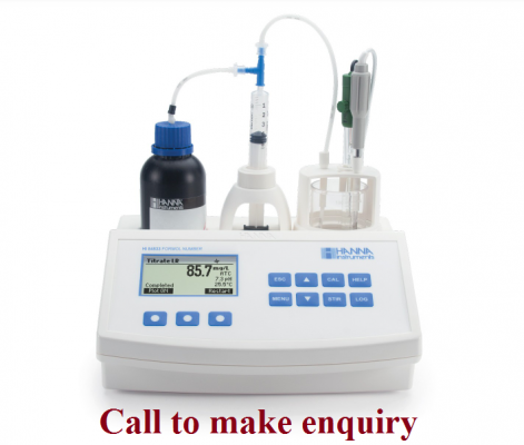 HI84533-02 Mini Titrator for Measuring Formol Number in Wine and Fruit Juice