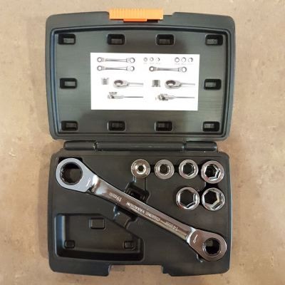 12 IN 1 CV-V Interchangeable Ratchet Wrench Kit  ID31066