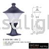 OUTDOOR PILLAR GATE G 5008 SBK 48W Outdoor Pillar Light OUTDOOR LIGHT