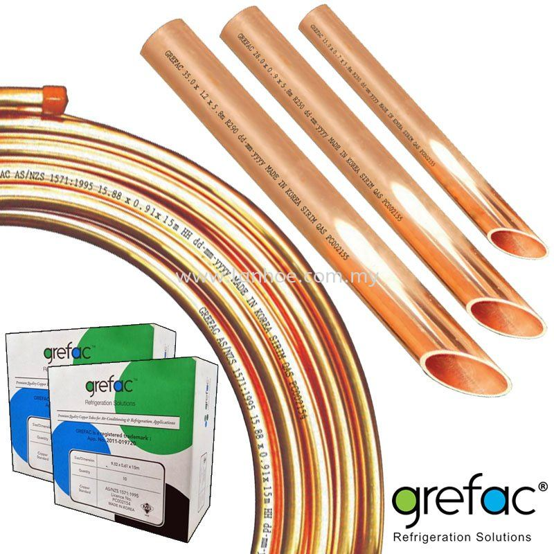 Grefac Air-Conditioning & Refrigeration Copper Tubes & Pipes (AS/NZ1571 & ASTMB280)