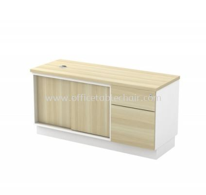 MUPHI SIDE OFFICE CABINET C/W SLIDING DOOR + FIXED PEDESTAL 1D1F (W/O HANDLE) AB-YSP 1226 (E)