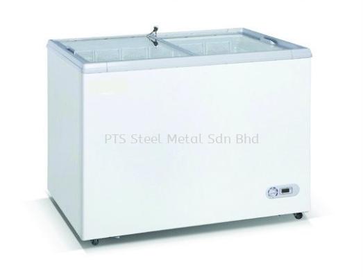 FLAT GLASS CHEST FREEZER - TC-400F