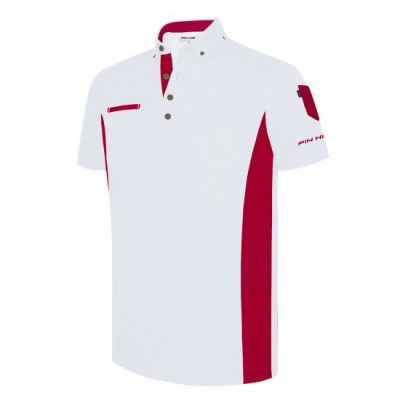 PHSH 236 Farrel Modern Fit White / Tango Red Golf Apparel