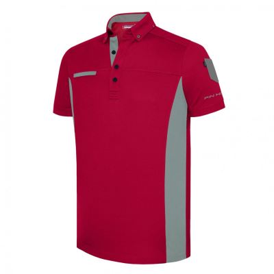 PHSH 236 Farrel Modern Fit Tango Red / Grey Mirage Golf Apparel