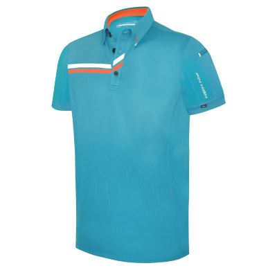 PHSH 244 Matthew Yosemite Blue/Carrot White Golf Apparel Modern Fit