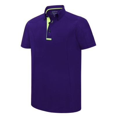 PHSH 190 Ethan Athletic Fit Imperial Purple / Green Flash Golf Apparel