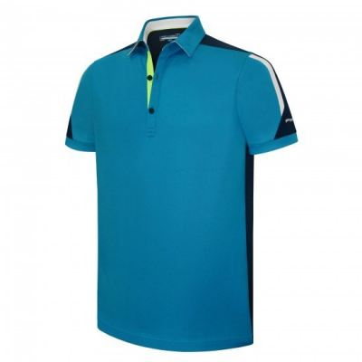 PHSH 215 David Yosemite Blue/True Navy White/Green Glash Modern Fit Golf Apparels