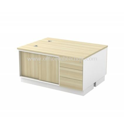 SIDE CABINET C/W SLIDING DOOR + FIXED PEDESTAL 3D FOR 2 PERSON (W/O HANDLE) B-YSP 1236-2 (E)