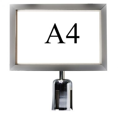 A4 Sign Holder For Q-up Stand
