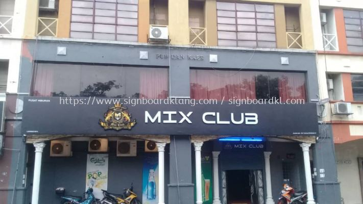 Mix Club 3D LED Box Up RGB Color lettering at Subang jaya SS 2 kuala Lumpur