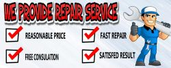 WE PROVIDE REPAIR SERVICE