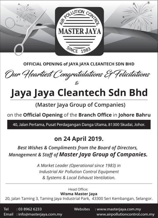 Official Opening Of The Branch Office In Johore Bahru