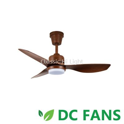 "Acorn Intaglio DC-159LED 40"" 3 Blade DC Motor Ceiling Fan : Wood"