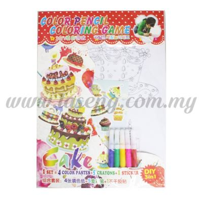 Colour Pencil Colouring Game - Cake (T29-DB-030)