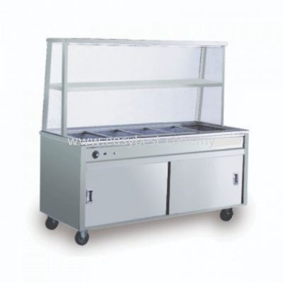 Bain Marie with 1 Tier Overshelf