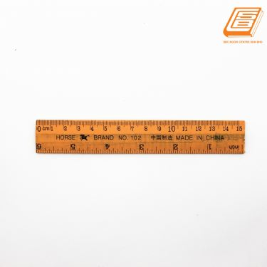 Horse - Wooden Ruler 15cm - (No.102)