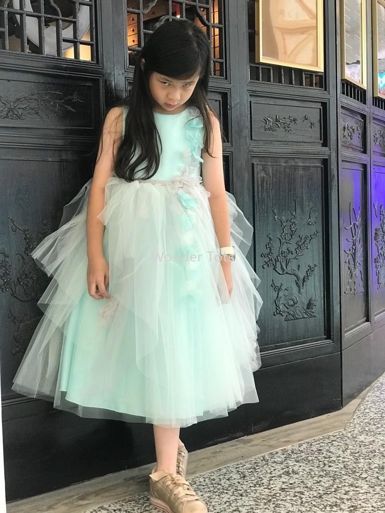 Kids Party Dress - Turquoise