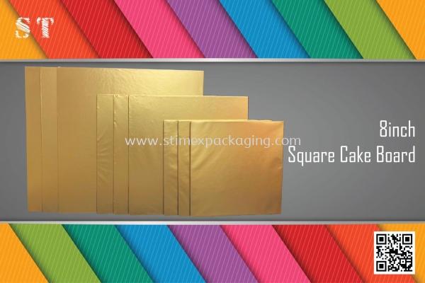8inch Square Cake Board @ 15pcs