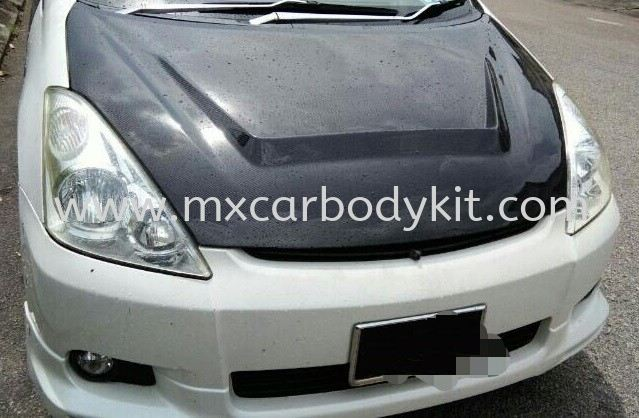 TOYOTA WISH 2002 - 2006 CARBON HOOD BONNET  WISH 2002 - 2008 TOYOTA
