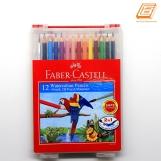 Faber-Castell - 12 Water Colour Pencils + Brush, 2B Pencil ,Sharpener - (114562)