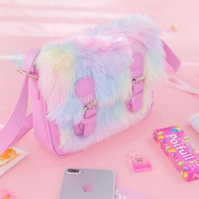 1309, rainbow hair sling bag