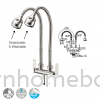 Double Pillar Sink Tap Flexible Hose IT7049SL5 Sink Tap Kitchen