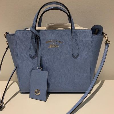 (SOLD) Brand New Gucci Tote in Baby Blue (Two Ways Carry)