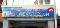 Easy Peasy Laundry (Jalan Rampai Niaga) Single Side  Light Box
