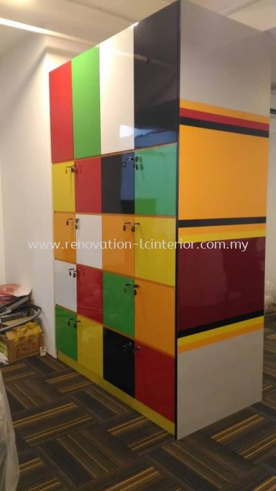Colourful Locker Cabinet